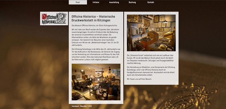 Officina Historica Website